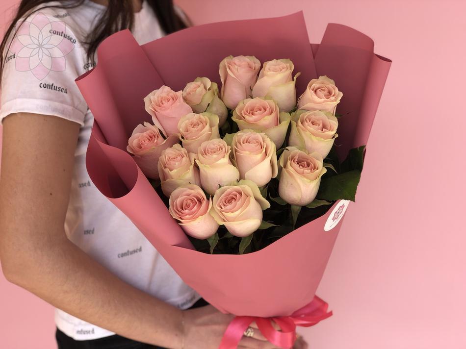 Кремовый букет, цветы, кремовые розы