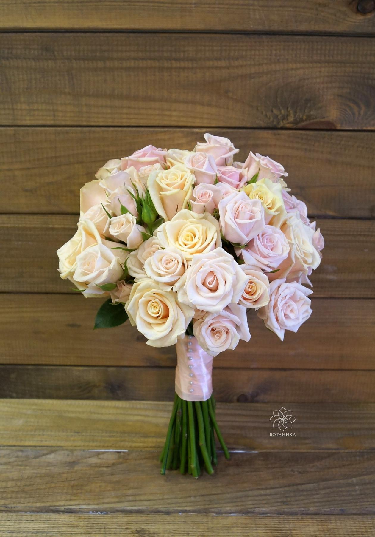 Букет на венчание, букет из роз, Букет невесты