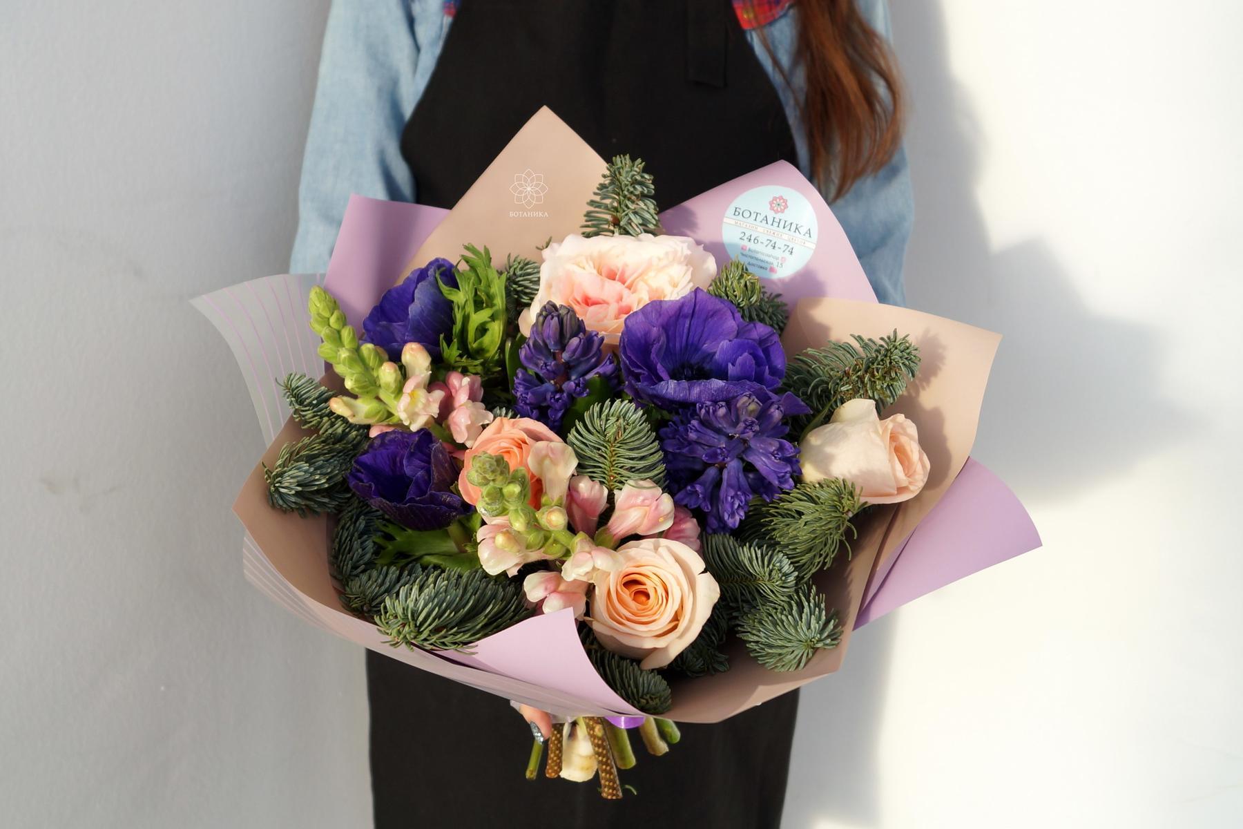 Цветы на новый год, букет на новый год с доставкой по казани
