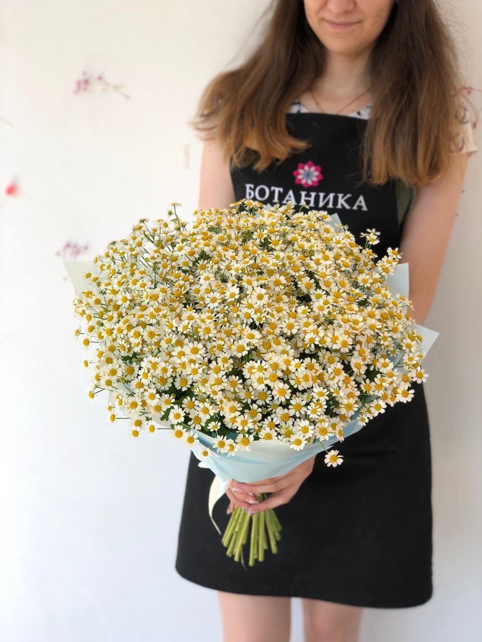 Моно-букет с ромашками в Казани