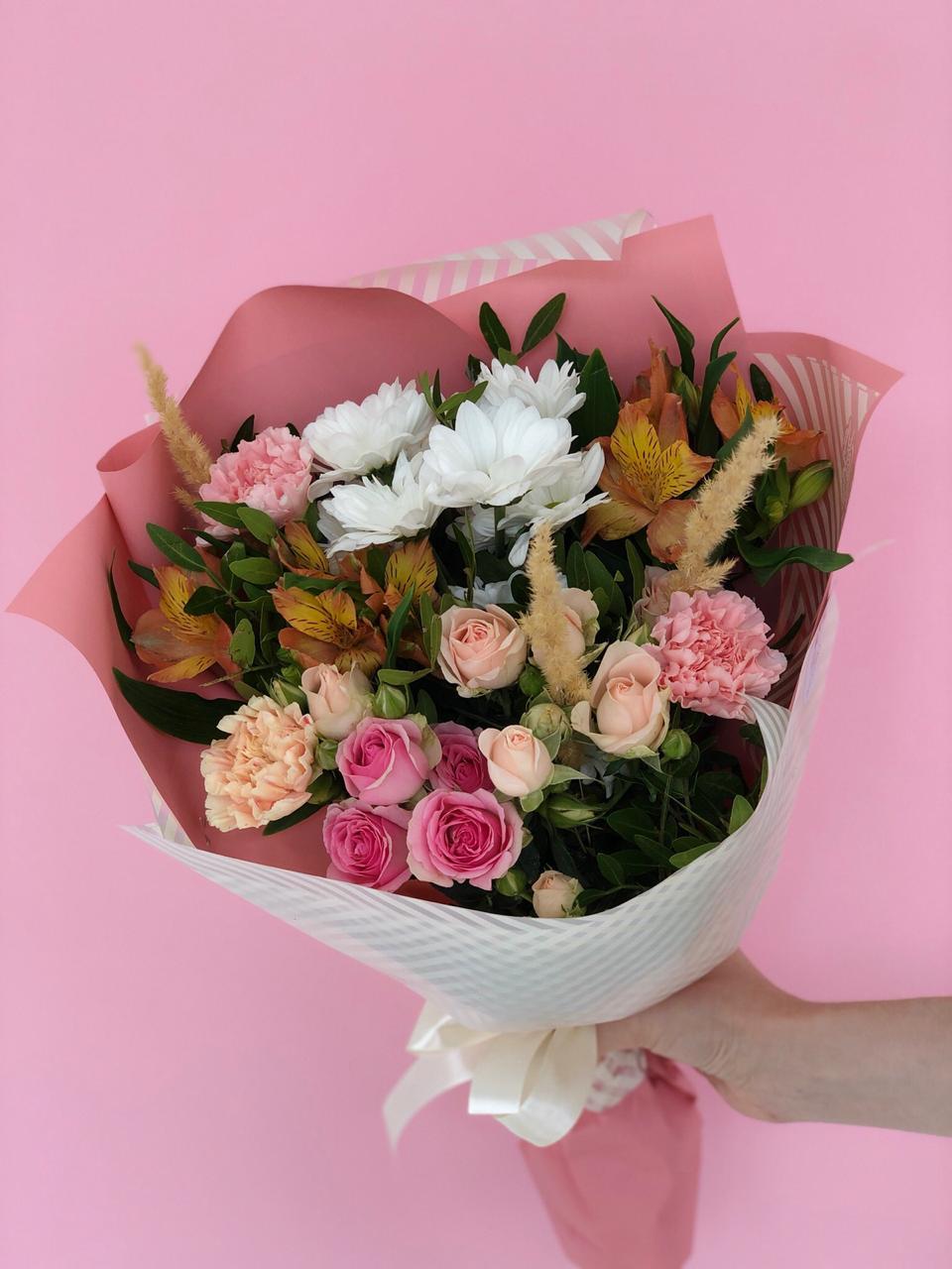 Букет для молодой девушки, Цветы с доставкой, Букет сборный для девушки