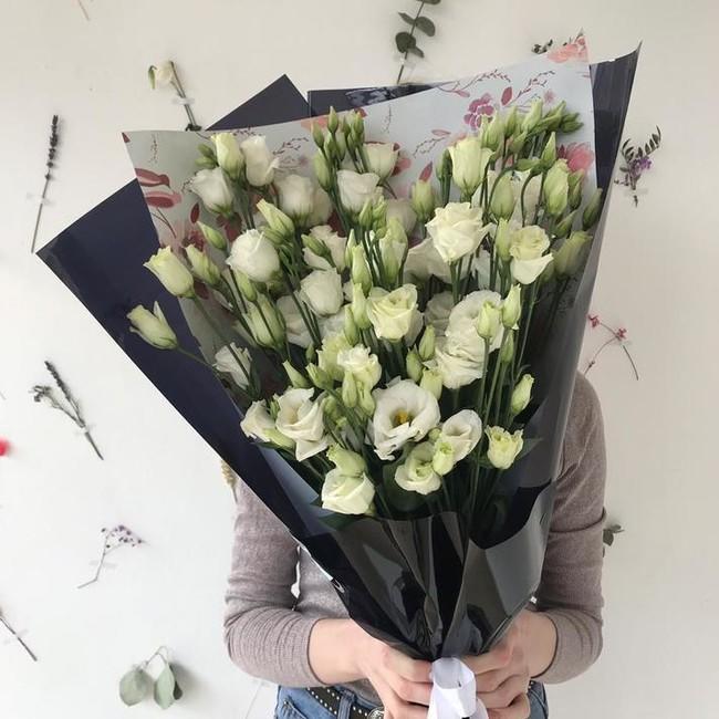 Букет из эустом, цветы, Доставка эустом, Ирландская роза