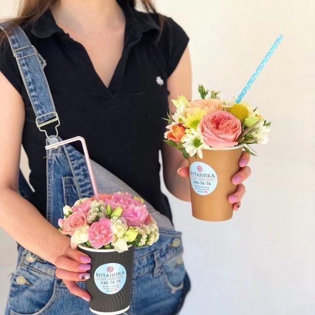 Цветочный коктейль для девочек