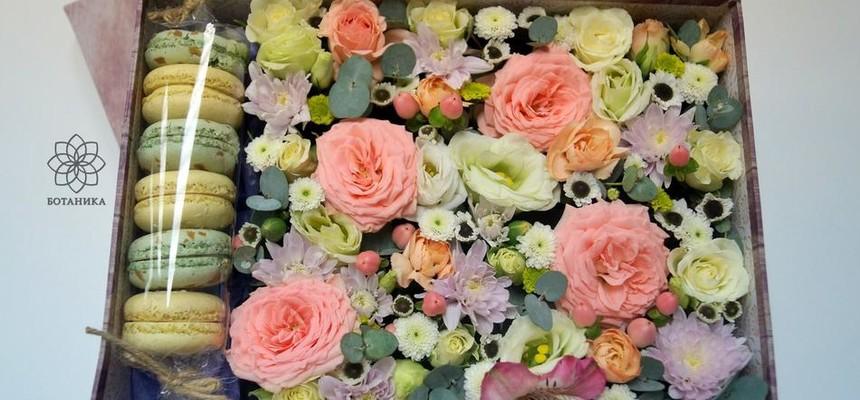 Цветы и макаруны – подарок достойный самой Афродиты