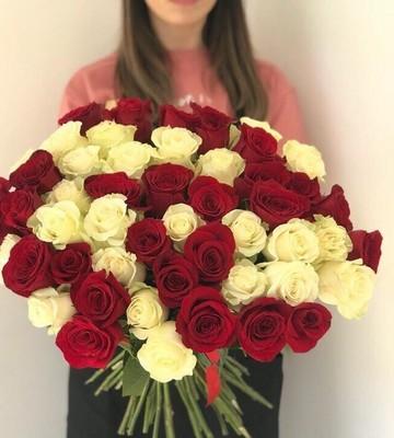 Букет из 51 розы 60 см