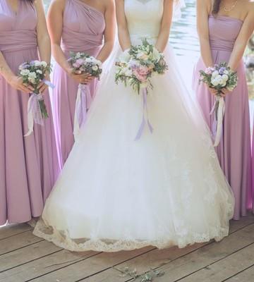 Оформление свадьбы в сиреневом цвете на 80 человек