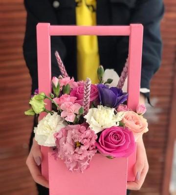 Цветочный ящик на 14 февраля