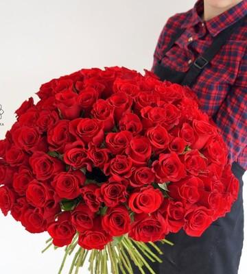 Розы с крупным бутоном красные (штучно)