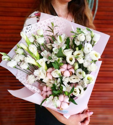Букет живой цветок