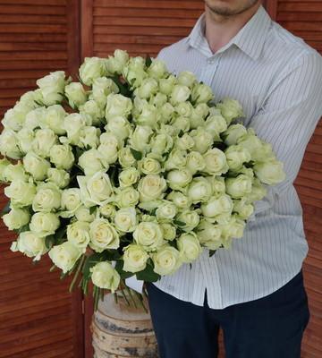 Розы с крупным бутоном белые (штучно)