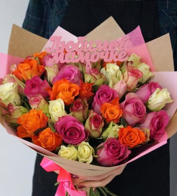 Букет роз микс для Мамы
