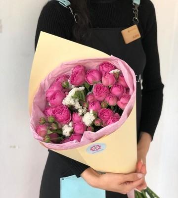 Букет с розами Мисти баблс