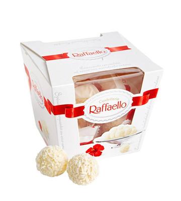 Raffaello конфеты с цельным миндальным орехом в кокосовой обсыпке