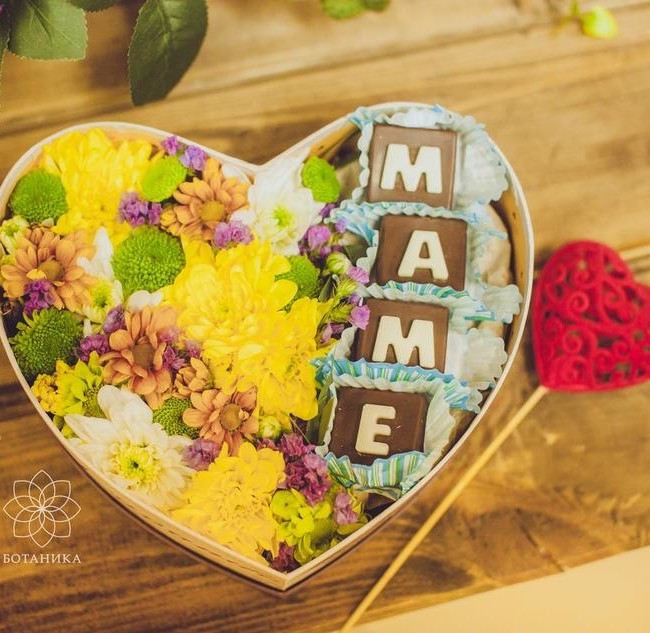 Цветы с шоколадом ручной работы - вид 1