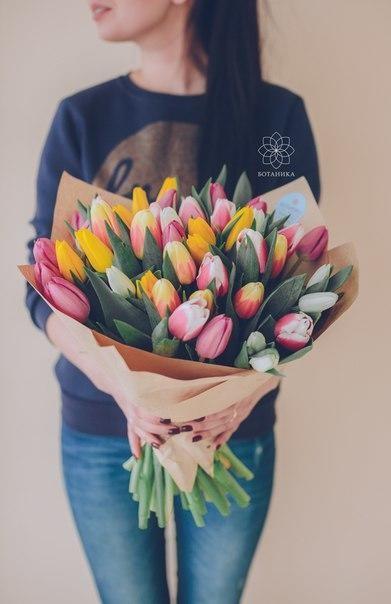 Букет 51 тюльпанов микс - вид 1