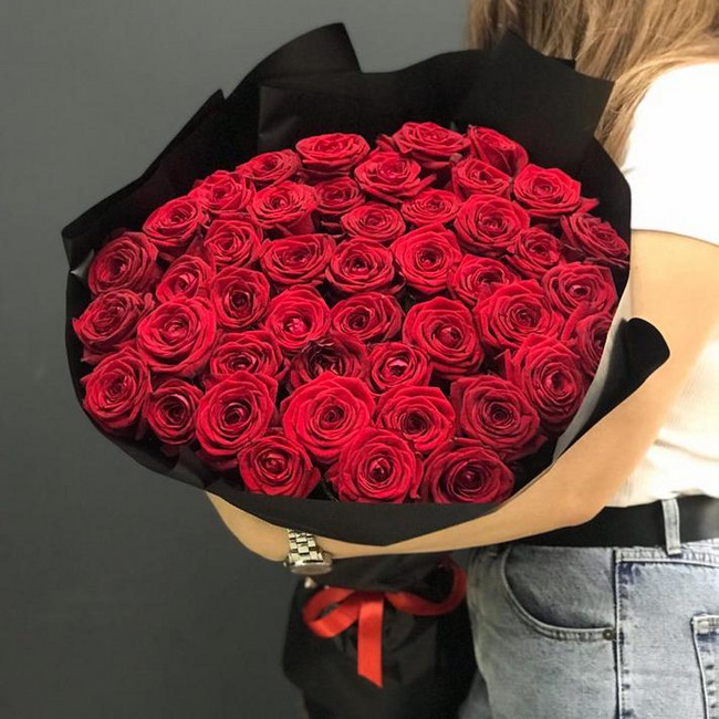 Букет из 51 розы красной - вид 1