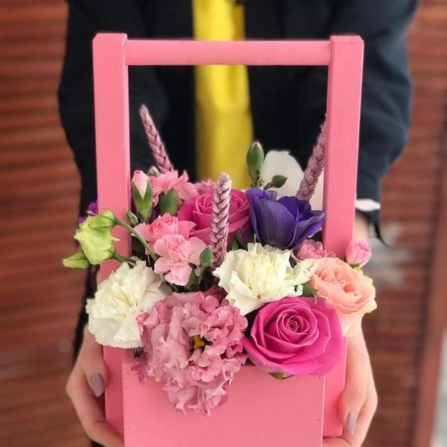 Цветочный ящик на 8 марта - вид 1