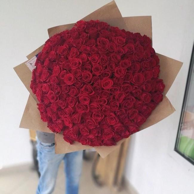 Букет из 171 эквадорской розы 60 см - вид 1