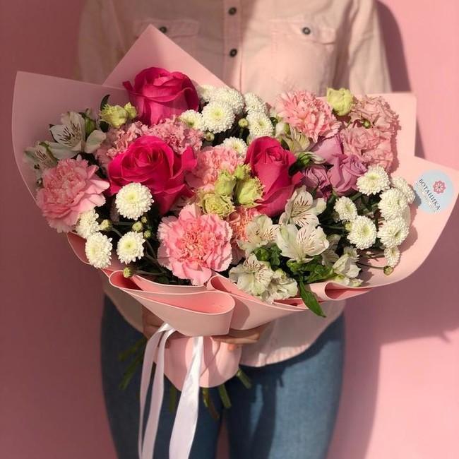 Букет для мамы с розами - вид 1