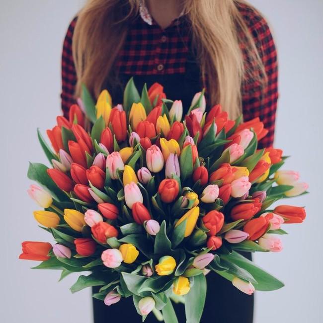 Букет из 101 тюльпанов микс - вид 1