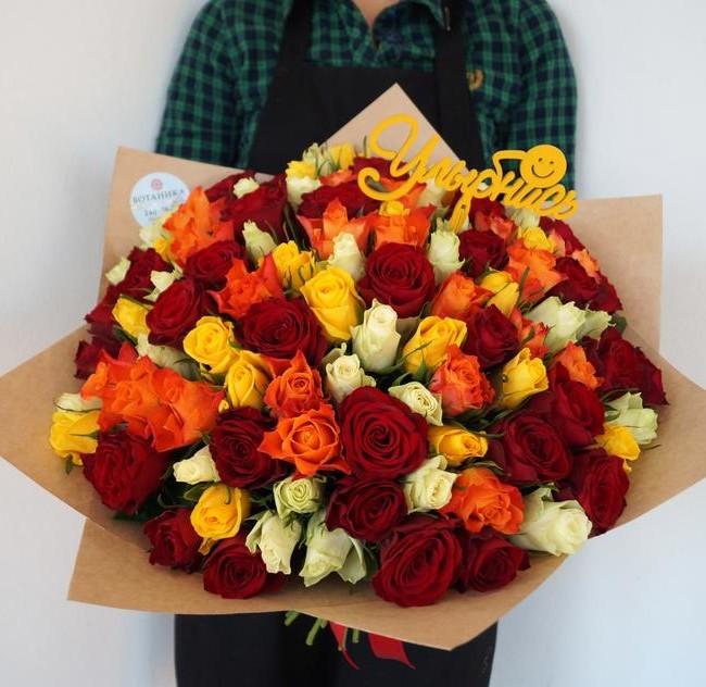 Букет из 101 розы Кения - вид 1