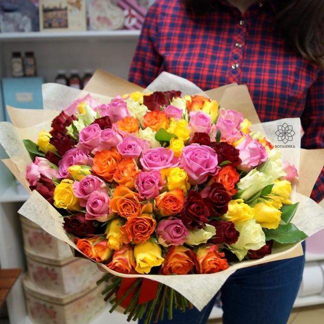 Букет из 101 розы микс - вид 1
