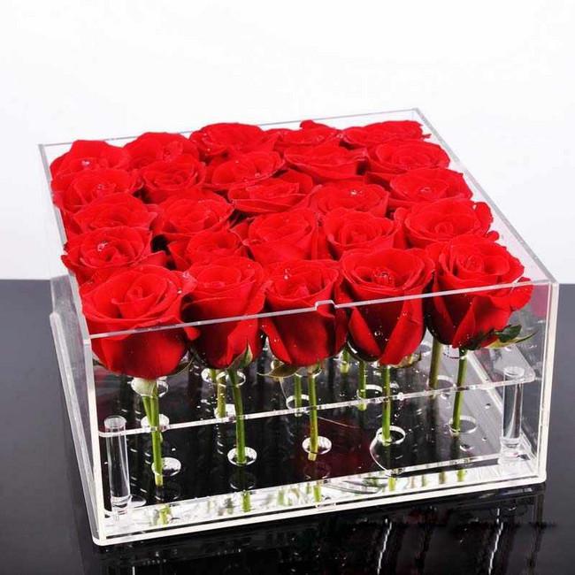 21 роза в боксе - вид 1