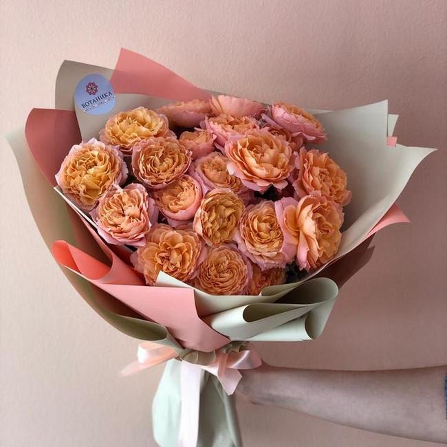 Шикарный букет из пышных роз - вид 1