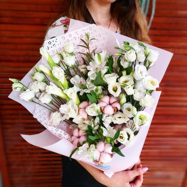 Букет живой цветок - вид 1