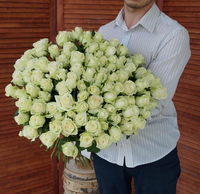 Розы с крупным бутоном белые (штучно) - вид 1
