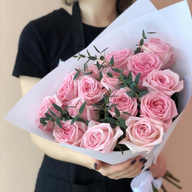 Букет из роз Люблю тебя нежно - вид 1