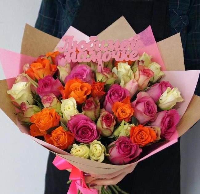 Букет роз микс для Мамы - вид 1