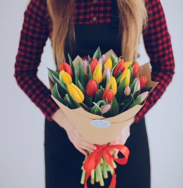 Букет из тюльпанов - вид 1