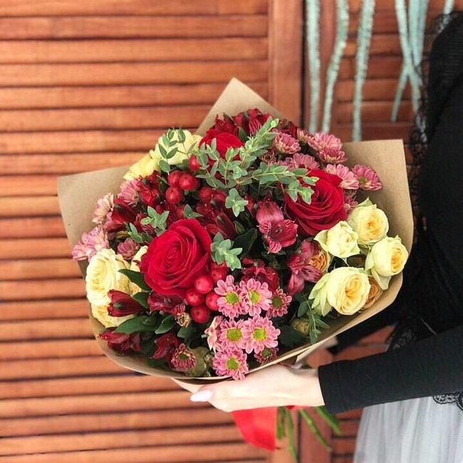 Букет осенних цветов - вид 1