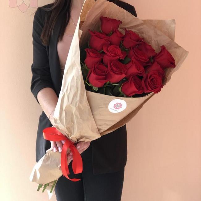 Эквадорские розы в крафте