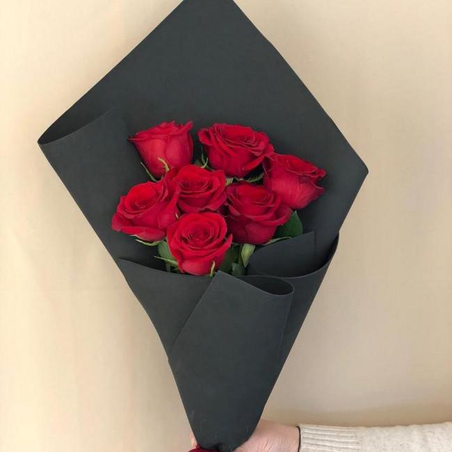 Купить Стильный букет роз - вид 1