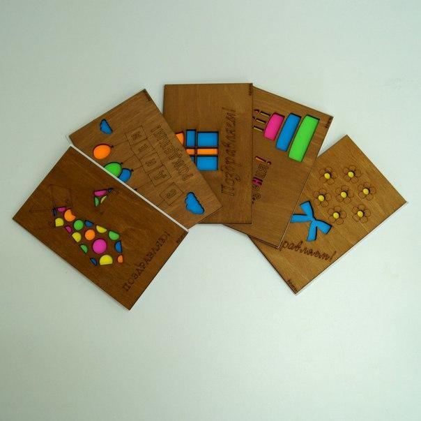 Деревянная открытка - вид 1