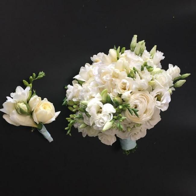 Букет невесты Белая нежность - вид 1