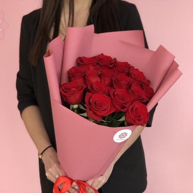Букет из эквадорских роз - вид 1
