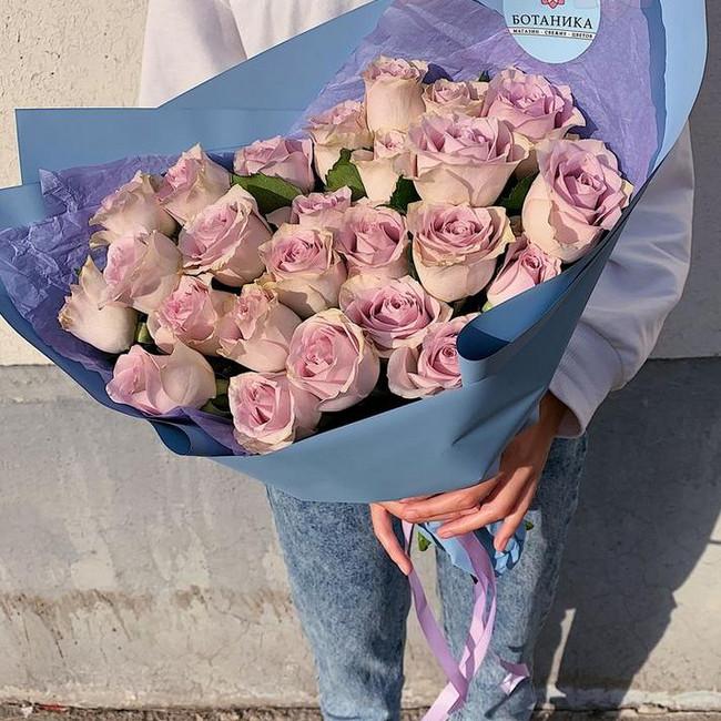 Букет из 25 роз сорта Morning Dew